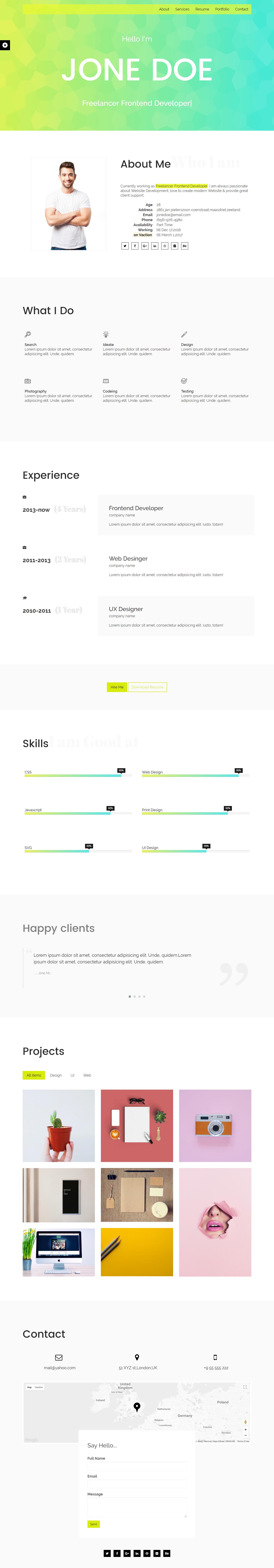 preview My CV- Responsive One Page CV/ Resume/ Portfolio Html Template (Personal) My CV- Responsive One Page CV/ Resume/ Portfolio Html Template (Personal) preview 1